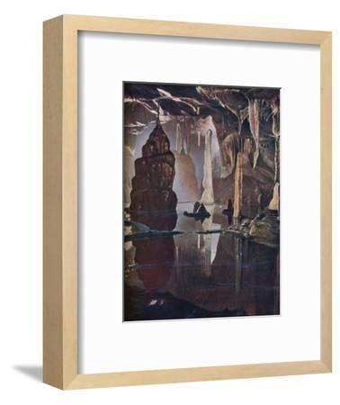 'The 'Transformation Scene' in Cox's Cave at Cheddar', c1935-Unknown-Framed Giclee Print