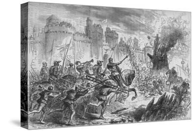 'The Siege of Berwick', c1880-Unknown-Stretched Canvas Print