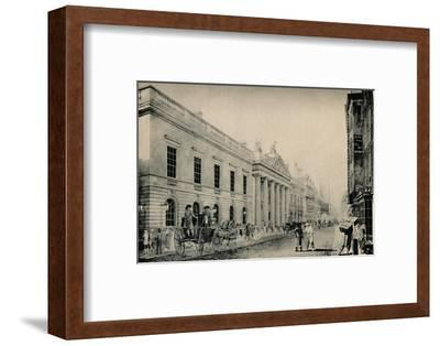 'The East India House from the East', c late 18th century, (1928)-Unknown-Framed Photographic Print
