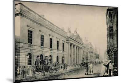 'The East India House from the East', c late 18th century, (1928)-Unknown-Mounted Photographic Print