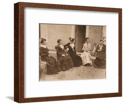 'A group of women talking', 1937-Unknown-Framed Photographic Print