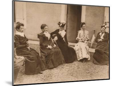 'A group of women talking', 1937-Unknown-Mounted Photographic Print