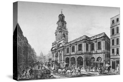 'The Second Royal Exchange, South Front, in 1788', (1928)-Unknown-Stretched Canvas Print