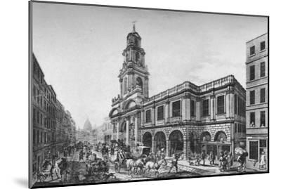'The Second Royal Exchange, South Front, in 1788', (1928)-Unknown-Mounted Giclee Print