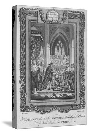 'King Henry the Sixth Crowned in the Cathedral Church of Notre Dame, in Paris', c1787-Unknown-Stretched Canvas Print