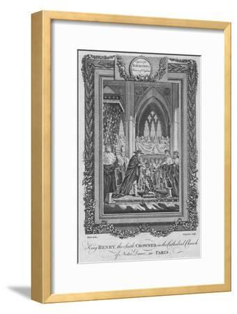 'King Henry the Sixth Crowned in the Cathedral Church of Notre Dame, in Paris', c1787-Unknown-Framed Giclee Print