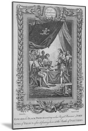 'Edward the Black Prince waiting on his Royal Prisoner John, King of France', c1787-Unknown-Mounted Giclee Print