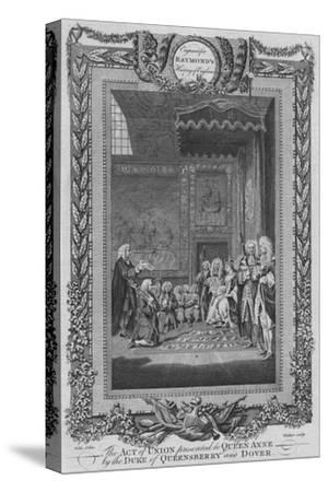 'The Act of Union presented to Queen Anne by the Duke of Queensberry and Dover', c1787-Unknown-Stretched Canvas Print