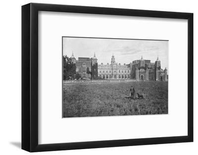 'Hatfield House, South Front', c1896-Unknown-Framed Photographic Print
