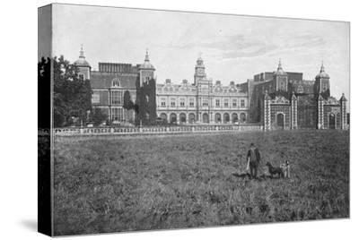 'Hatfield House, South Front', c1896-Unknown-Stretched Canvas Print