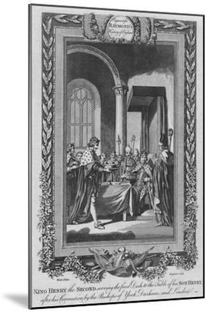'King Henry the Second serving the first Dish to the Table of his Son', c1787-Unknown-Mounted Giclee Print