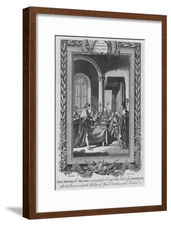 'King Henry the Second serving the first Dish to the Table of his Son', c1787-Unknown-Framed Giclee Print