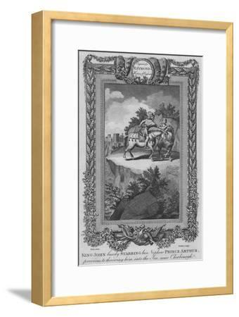 'King John basely Stabbing his Nephew Prince Arthur, previous to throwing him into the Sea', c1787-Unknown-Framed Giclee Print