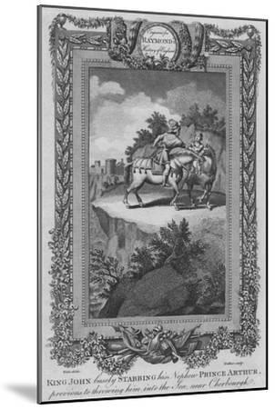 'King John basely Stabbing his Nephew Prince Arthur, previous to throwing him into the Sea', c1787-Unknown-Mounted Giclee Print