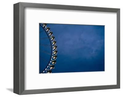 big wheel at night, close-up-Seepia Fotografie-Framed Photographic Print