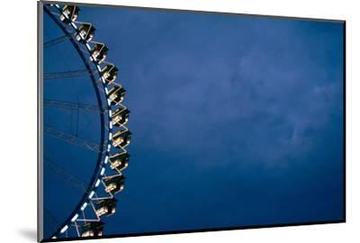 big wheel at night, close-up-Seepia Fotografie-Mounted Photographic Print