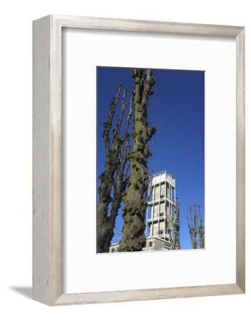 Aarhus, town hall tower by Arne Jacobsen - European cultural capital in 2017-Gianna Schade-Framed Photographic Print