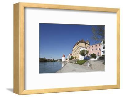 Inn (river) with Schaiblingsturm, Old Town, Passau, Lower Bavaria, Bavaria, Germany, Europe,-Torsten Krüger-Framed Photographic Print