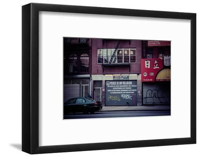 Peace is my religion, Religion in a modern world, Street Art, Steetview, Manhattan, New York, USA-Andrea Lang-Framed Photographic Print