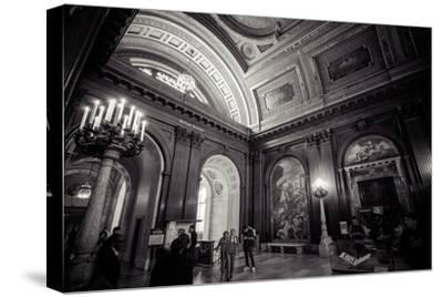 Ceiling Painting in NYPL, New York Public Library-Andrea Lang-Stretched Canvas Print