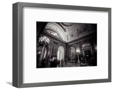 Ceiling Painting in NYPL, New York Public Library-Andrea Lang-Framed Photographic Print