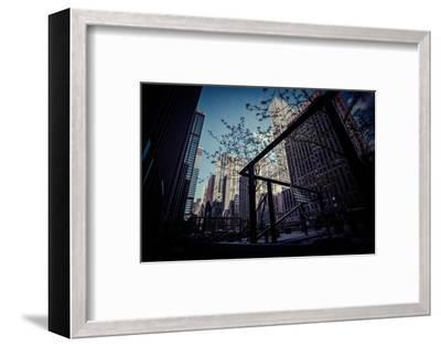 Skyscraper, Architecture, business district, Manhattan, New York, USA-Andrea Lang-Framed Photographic Print