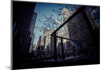 Skyscraper, Architecture, business district, Manhattan, New York, USA-Andrea Lang-Mounted Photographic Print