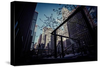 Skyscraper, Architecture, business district, Manhattan, New York, USA-Andrea Lang-Stretched Canvas Print