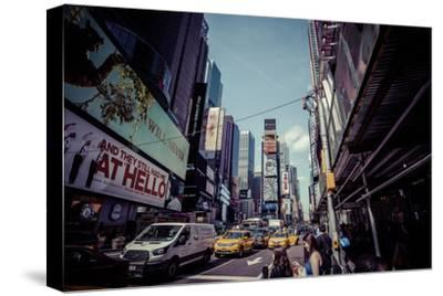 Ads on Time Square, architecture, skyscrapers, Streetview, Manhattan, New York, USA-Andrea Lang-Stretched Canvas Print