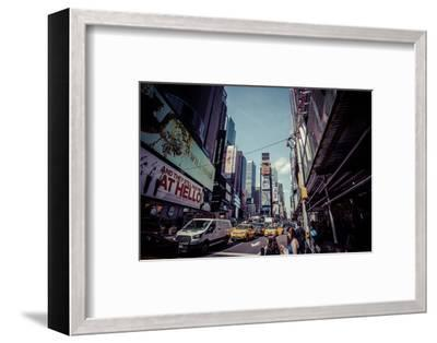 Ads on Time Square, architecture, skyscrapers, Streetview, Manhattan, New York, USA-Andrea Lang-Framed Photographic Print
