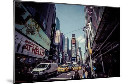 Ads on Time Square, architecture, skyscrapers, Streetview, Manhattan, New York, USA-Andrea Lang-Mounted Photographic Print