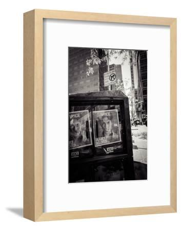 Newspaper box, dearly beloved Prince, Voice Magazine, Streetview, Manhattan, New York, USA-Andrea Lang-Framed Photographic Print
