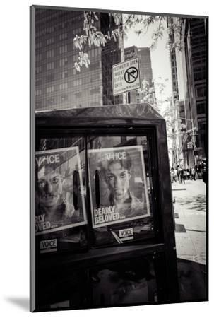 Newspaper box, dearly beloved Prince, Voice Magazine, Streetview, Manhattan, New York, USA-Andrea Lang-Mounted Photographic Print