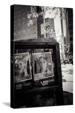Newspaper box, dearly beloved Prince, Voice Magazine, Streetview, Manhattan, New York, USA-Andrea Lang-Stretched Canvas Print