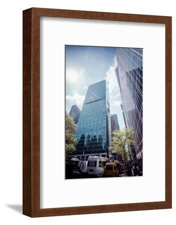W. R. Grace Building and skyscrapers, Streetview, Manhattan, New York, USA-Andrea Lang-Framed Photographic Print