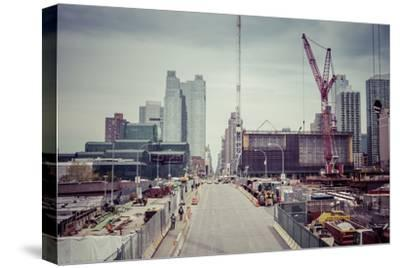 Streetview, construction site, Chelsea, Art District, Manhattan, New York, USA-Andrea Lang-Stretched Canvas Print