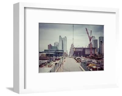 Streetview, construction site, Chelsea, Art District, Manhattan, New York, USA-Andrea Lang-Framed Photographic Print