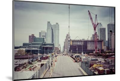 Streetview, construction site, Chelsea, Art District, Manhattan, New York, USA-Andrea Lang-Mounted Photographic Print