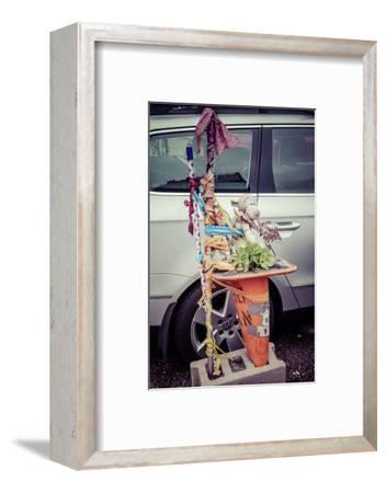 Backstreet Parking Streetart and Trash in Williamsburg, Brooklyn, New York, USA-Andrea Lang-Framed Photographic Print