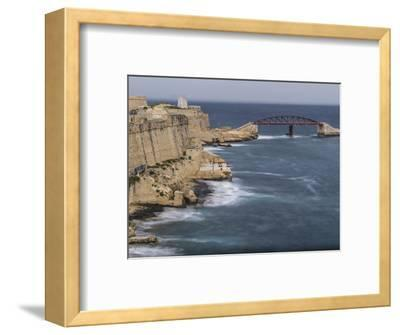 Stormy morning in Grand Harbour in Valletta on Malta-enricocacciafotografie-Framed Photographic Print