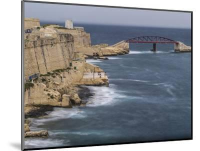 Stormy morning in Grand Harbour in Valletta on Malta-enricocacciafotografie-Mounted Photographic Print
