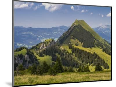 Summery mountain landscape in the Bernese Oberland-enricocacciafotografie-Mounted Photographic Print