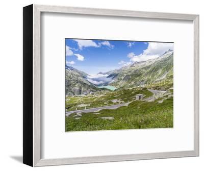 Grimsel mountain pass with reservoir Räterichsboden-enricocacciafotografie-Framed Photographic Print