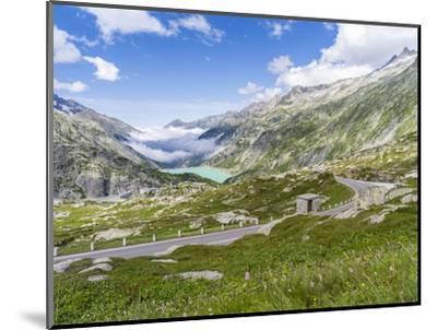 Grimsel mountain pass with reservoir Räterichsboden-enricocacciafotografie-Mounted Photographic Print