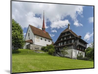 Pilgrimage chapel Maria Mitleiden in Gormund-enricocacciafotografie-Mounted Photographic Print