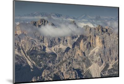 Europe, Italy, Alps, Dolomites, Mountains, Trentino-Alto Adige/Südtirol, View from Sass Pordoi-Mikolaj Gospodarek-Mounted Photographic Print