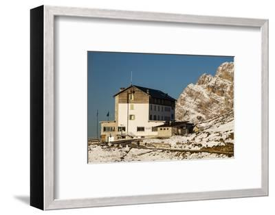 Europe, Italy, Alps, Dolomites, Mountains, Belluno, Sexten Dolomites, Rifugio Auronzo, Tre Cime-Mikolaj Gospodarek-Framed Photographic Print