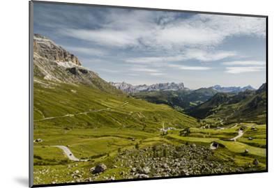 Europe, Italy, Alps, Dolomites, Mountains, Pordoi Pass-Mikolaj Gospodarek-Mounted Photographic Print