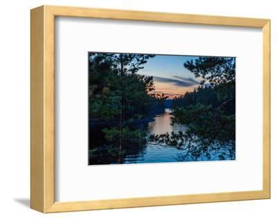 Sundown, Stora Le Lake, Dalsland, Götaland, Sweden-Andrea Lang-Framed Photographic Print