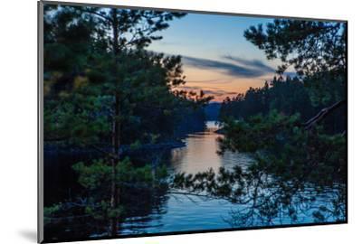 Sundown, Stora Le Lake, Dalsland, Götaland, Sweden-Andrea Lang-Mounted Photographic Print